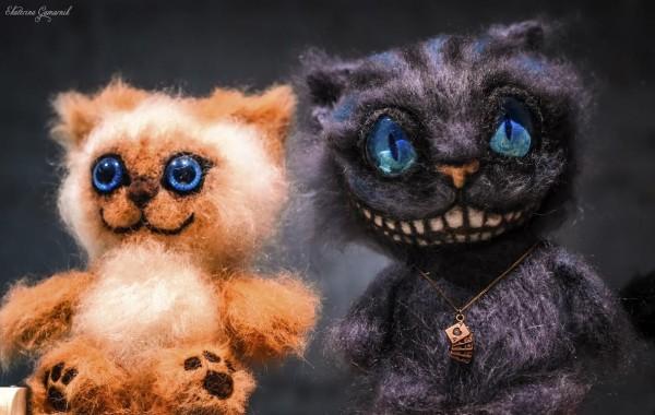 вязаный кот Чеширский