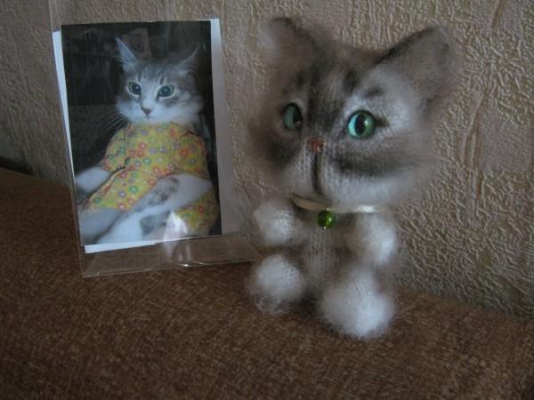 кошка вязаная Одесса