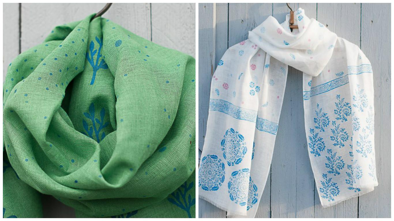 шарфы Отпечатки