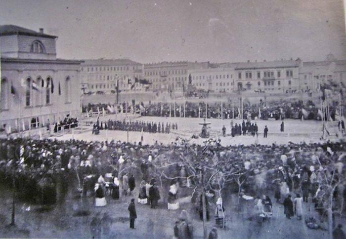 Открытие первого фонтана в Одессе. Фото из коллекции Анатолия Дроздовского.